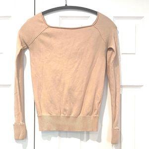 Gotha Love Womens Pink Sweater Top Blouse